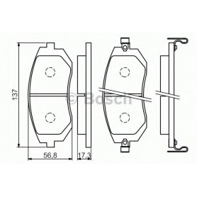 BOSCH brake pads kit code 0986494558