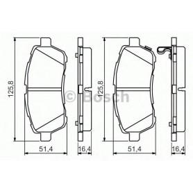 BOSCH brake pads kit code 0986494574