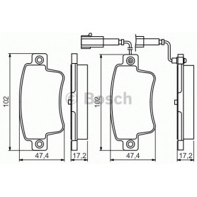 BOSCH brake pads kit code 0986495355