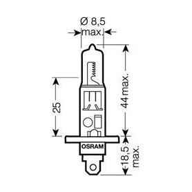 OSRAM ULTRALIFE H1 12V Lampadina, Faro di profondità 55W codice 64150ULT