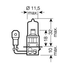 OSRAM COOL BLUE® INTENSE H3 12V Lampadina, Faro di profondità 55W codice 64151CBI