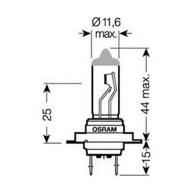 OSRAM COOL BLUE® INTENSE H7 12V Lampadina, Faro di profondità 55W codice 64210CBI