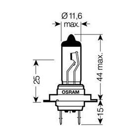 OSRAM ORIGINAL H7 12V Lampadina, Faro di profondità 55W codice 64210L