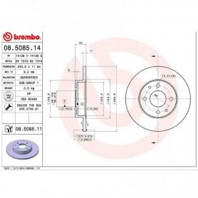 Brembo 08.5085.14 - Brake Disc - Set of 2 discs