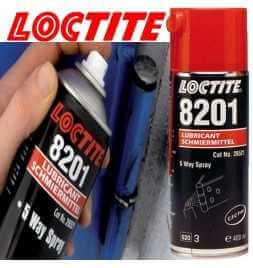 Lubrificante - Olio multiuso Loctite 8201 Spray 5 usi - Formato 400 ml