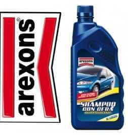 Arexons SHAMPOO CON CERA 1lt autoasciugante bassa schiuma pulizia auto e moto