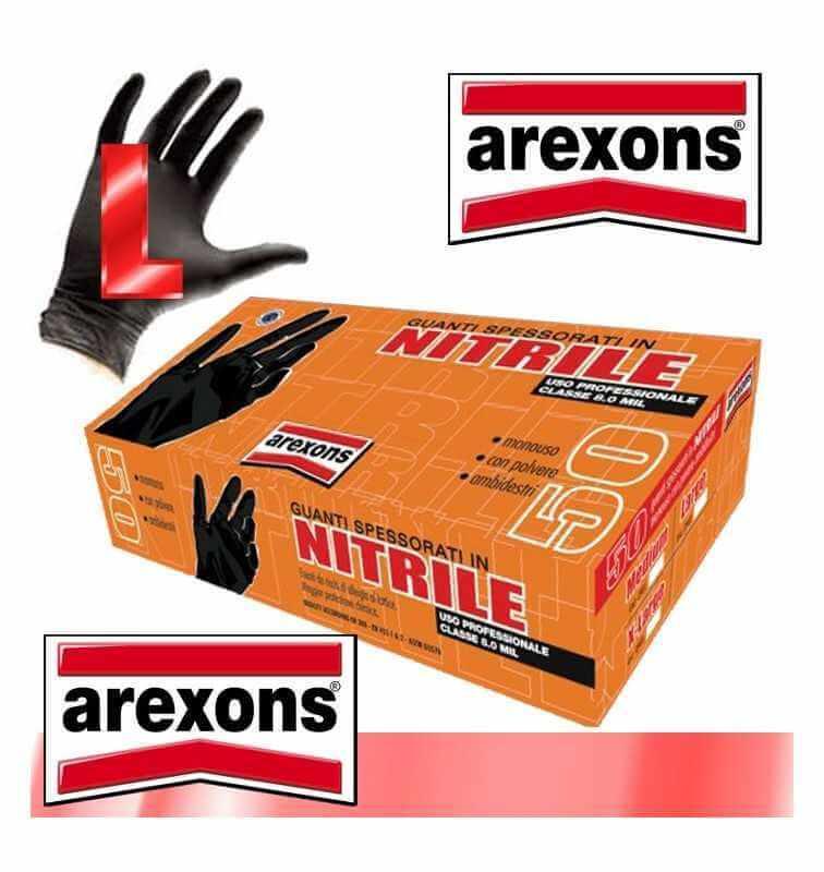 GUANTI SPESSORATI IN NITRILE AREXONS CONF.50pz. tg. M CLASSE 8.0 MIL USO PROFES