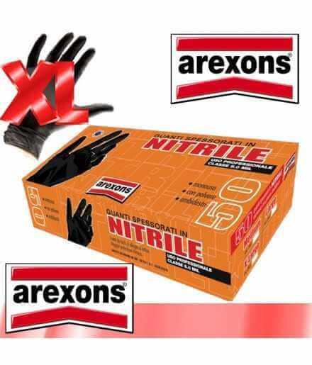 GUANTI SPESSORATI IN NITRILE AREXONS CONF.50pz. tg.XL CLASSE 8.0 MIL USO PROFES