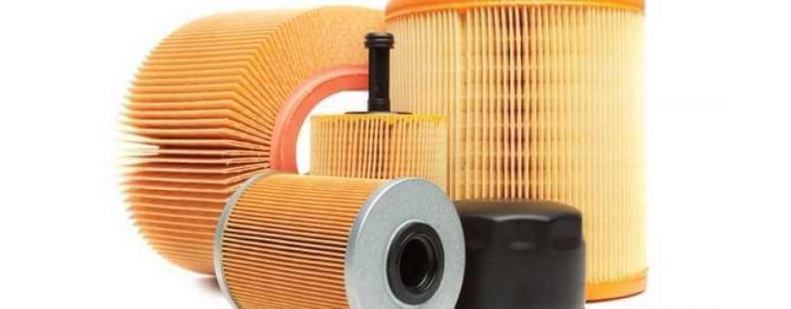 filtros de aire, aceite, combustible y habitáculo para su coche